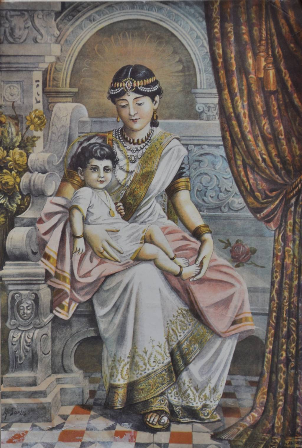 2021_Prince_Siddhartha_with_his_maternal_aunt_Queen_Mahaprajapati_Gotami.jpg