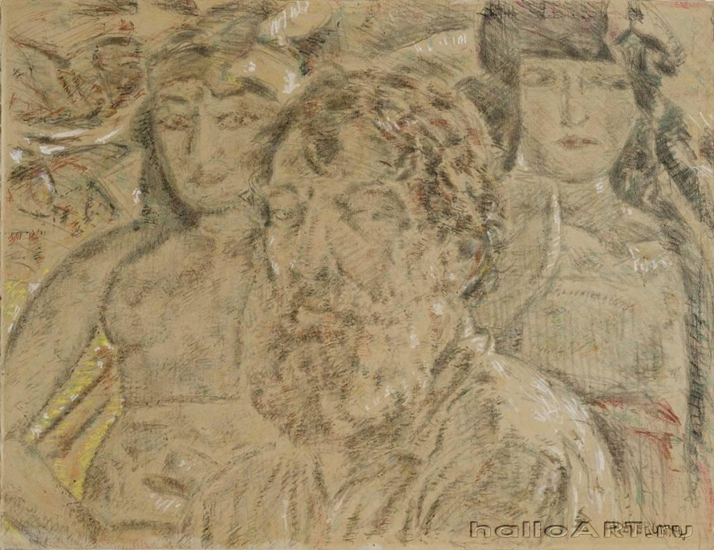 Autorretratoconmunecasybarba1949.Carboncillocreyontizaypastelsobrepapelencoladoacarton647x838cm.jpg