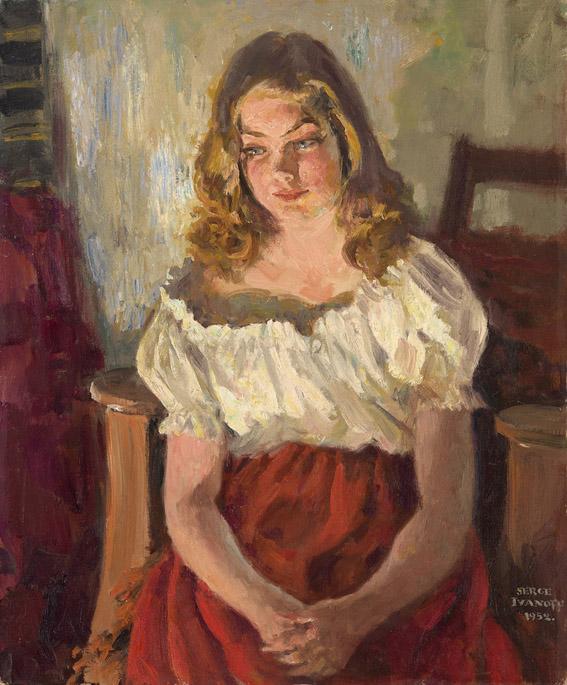 IvanovSergejPetrovichDevushkavkrasnojjubke.1952.jpg