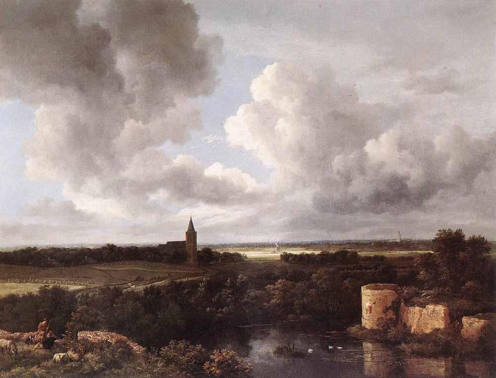RUISDAEL_Jacob_Isaackszon_van_An_Extensive_Landscape_With_A_Ruined_Castle_And_A_Village_Church.jpg
