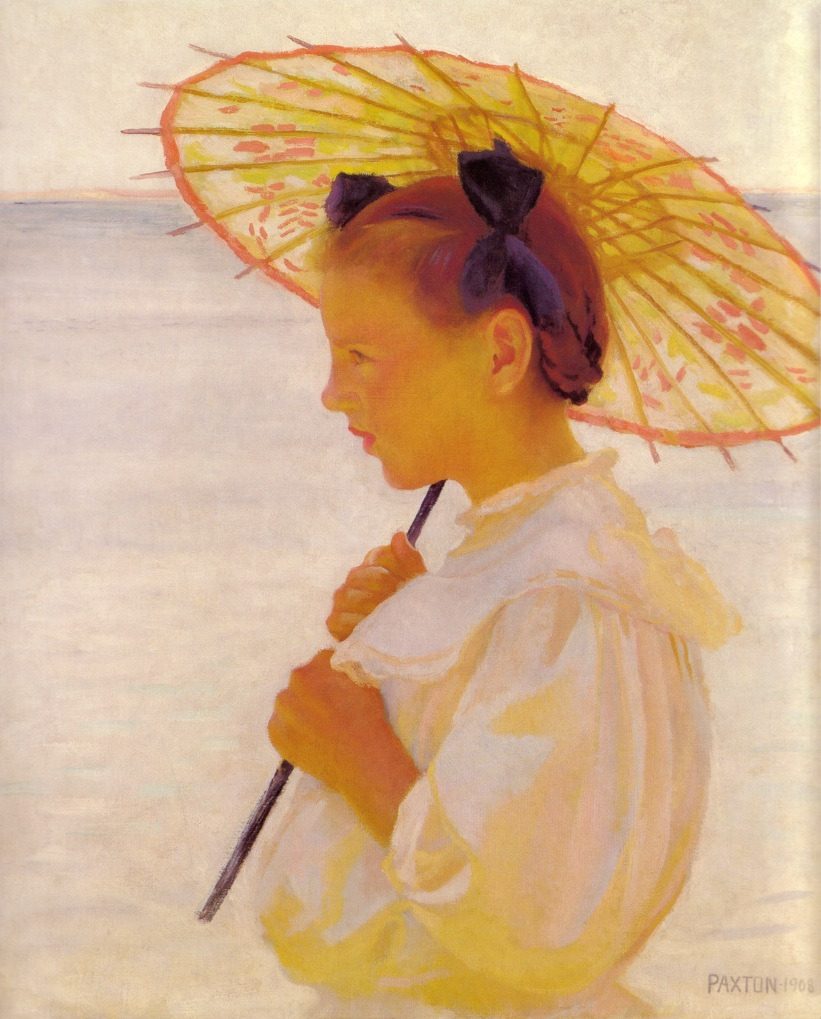 WilliamPaxton_ChildInSunlightorTheChineseParasol_1908.jpg