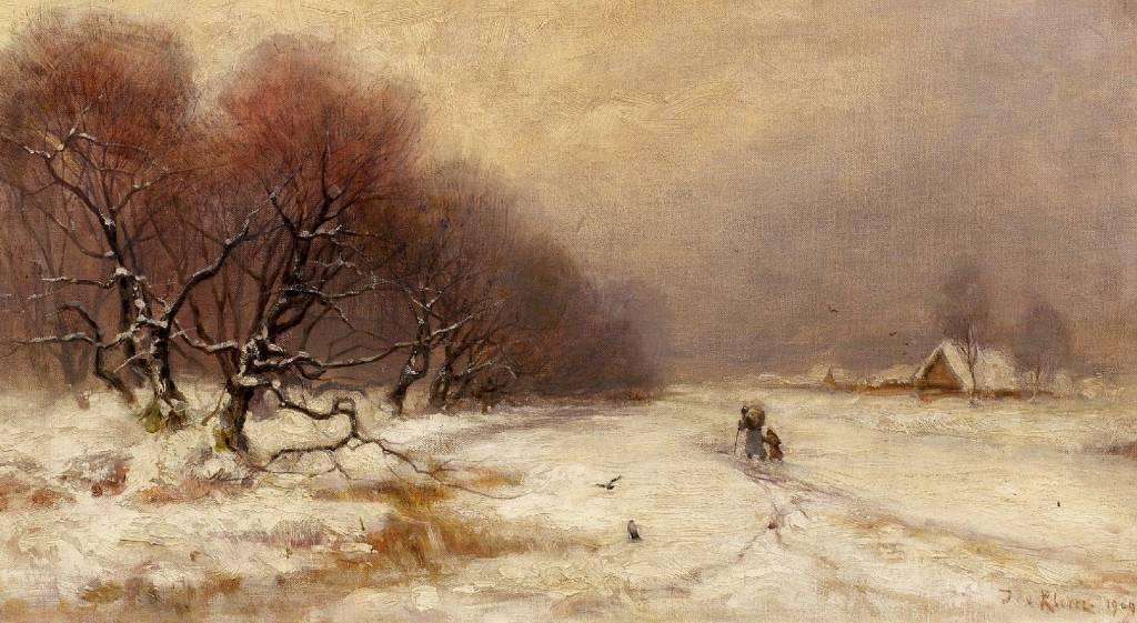 WinterlandschaftmitheimkehrendenBauern1909.jpg